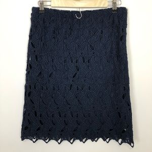 Lucy & laurel 4 crochet lined stretch cotton skirt